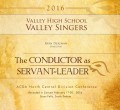 ACDA North Central Division Conference 2016 Valley High Valley Singers