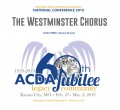 ACDA 2019 National - Westminster Chorus  - Barbershop CD