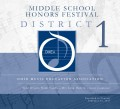 Ohio Music Education Association OMEA District 1 Middle School Honors Festival 2-12-2017 CD-DVD