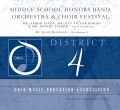 Ohio OMEA District 4 Middle School Honor Band, Choir & Orchestra Festival  3/9/2019 CD