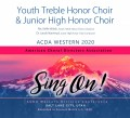 ACDA Western 2020 Youth Treble Honor Choir and Junior High Honor Choir 3-7-2020 CDs, DVDs, & Combo Sets