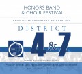 Ohio OMEA District 4 & 7 Band & Choir High School Honors Fest  11-16-2019 CD/DVD