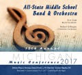 Michigan Music Conference 2017 All-State Middle School Band and Orchestra CD-DVD 1-21-2017