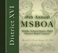2012 MSBOA District XVI Middle School/Jr. High Honors Band