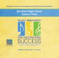 NAfME Eastern Division 2015 Brockton High School Concert Choir April 10-12, 2015 CD