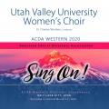 ACDA Western 2020 Utah Valley University Women's Choir CD