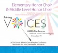 ACDA Central-North Central 2020 Elementary and Mid-Level Mixed Honor Choirs 3-7-2020 CDs, DVDs, & Combo Sets