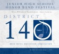 Ohio OMEA District 14 Middle School Honors Band 1/7/2018 CD