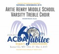 ACDA 2019 National - Artie Henry Middle School Treble CD/DVD