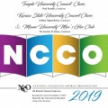 NCCO 2019 - National Collegiate Choral Organization : Temple University Concert Choir, Kansas State University Concert Choir, & Miami University Men's Glee Club CD