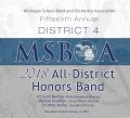MSBOA District 4 Honors Band 1-13-2018 CD