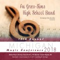 2018 Michigan Music Conference MMC Au Gres-Sims High School Band Jan. 25-27, 2018 CD