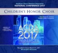 ACDA American Choral Directors Association 2017 Children's Honor Choir March 8-11, 2017 CD/DVD