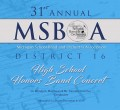 MSBOA District 16 High School Honor Band 12-9-2019  CDs, DVDs, & Combo Sets