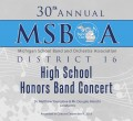 MSBOA District 16 Honor Band  12-4-2018 CD- DVD