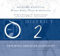 Ohio OMEA District 2 High School Honors Band, Choir, Orchestra 1-26-2019 CD-DVD