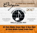 Oregon Music Educators Association 2017 OMEA Middle School Middle School All State Treble Choir & Tenor & Bass Choir CD/DVD