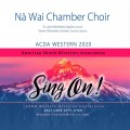 ACDA Western 2020 Na Wai Chamber Choir CDs, DVDs, and Combo Sets