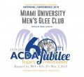 ACDA 2019 National - Miami University Men CD/DVD