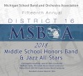 MSBOA District 16 Middle School Honor Band 3-27-2018 CD
