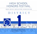 Ohio OMEA District 1 High School Honors Festival 1-26-2020 CDs, DVDs, and Combo Sets
