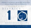 Ohio OMEA District 1 Middle School Honors Festival 2/18/2018 CD/DVD