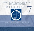 Ohio Music Education Association OMEA District 7 Middle School Honors Band Concert 2-24-2017 CD