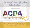 2018 ACDA Eastern Division Conference March 7-10, 2018 Fox Chapel High School Vulpes Cantantes CD