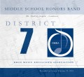 Ohio OMEA District 7 Middle School Honor Band Concert 2/23/2018 CD