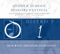 Ohio OMEA District 1 Middle School Festival 2-17-2019  CD and DVD