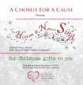 A Chorus for a Cause -  Holiday Concert 12-14-2014