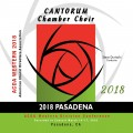 ACDA Western Division 2018 Cantorum Chamber Choir March 14-17, 2018 CD