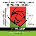 ACDA Western Division 2018 California State University Fullerton University Singers March 14-17, 2018 CD