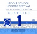 Ohio OMEA District 1 Middle School Honors Festival 1-26-2020 CDs, DVDs, and Combo Sets