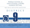 Ohio OMEA District 9 Middle School and High School Honor Choirs 11-23-2019 CD