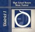 2012 Ohio OMEA District 1 High School Honors Festival CD