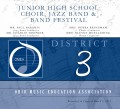 Ohio OMEA District 3 MS/JH Honors Band, Choir & Jazz 3-2-2019 CD
