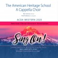 ACDA Western 2020 American Heritage School A Cappella Choir CDs, DVDs, and Combo Sets