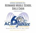 ACDA 2019 National - Hernando Middle School Girls Choir CD