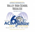 ACDA 2019 National - Valley High School Vocalese CD