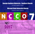 NCCO 2017 Georgia Southern Chorale & Missouri State University Chorale Nov. 2-4, 2017 CD