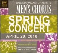 Baldwin Wallace University Men's Chorus 4/29/2018 CD