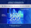ACDA American Choral Directors Association 2017 JH/Middle School Mixed Honor Choir March 8-11, 2017 CD/DVD